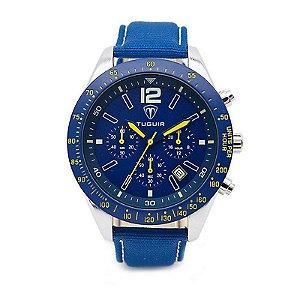 Relógio Masculino Tuguir Analógico 5036 Azul-