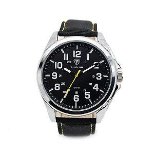 Relógio Masculino Tuguir Analógico 5045 - Preto e Prata-