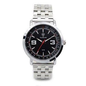 Relógio Masculino Tuguir Analógico 6151 - Prata e Preto-