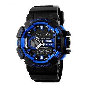 Relógio Masculino Skmei AnaDigi 1117 - Preto e Azul