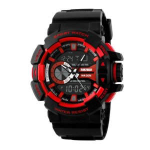 Relógio Masculino Skmei AnaDigi 1117 - Preto e Vermelho