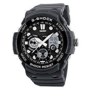 Relógio Masculino Skmei Anadigi 1205 Cinza-