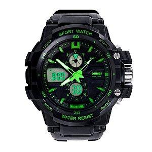 Relógio Masculino Skmei AnaDigi 0990 - Preto e Verde