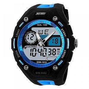 Relógio Masculino Skmei AnaDigi 1015 - Preto e Azul