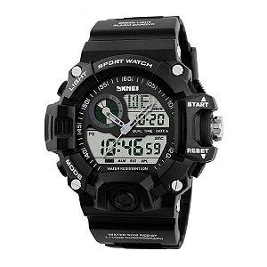 Relógio Masculino Skmei AnaDigi 1029 - Preto e Branco
