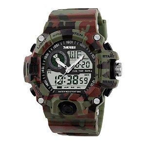 Relógio Masculino Skmei Anadigi 1029 Verde e Vermelho