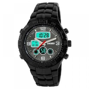 Relógio Masculino Skmei AnaDigi 1030 - Preto e Cinza