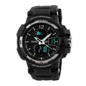Relógio Masculino Skmei AnaDigi 1040 - Preto e Prata