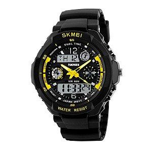 Relógio Masculino Skmei AnaDigi 1060 - Preto e Amarelo