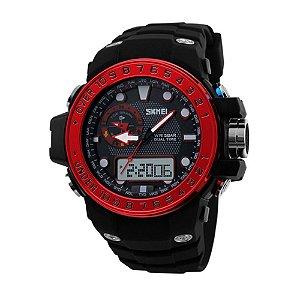 Relógio Masculino Skmei AnaDigi 1063 - Preto e Vermelho