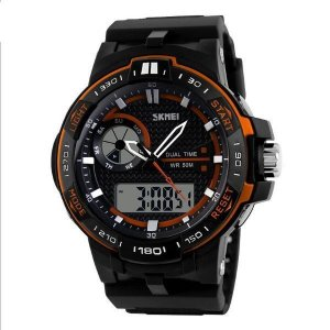 Relógio Masculino Skmei Anadigi 1070 Laranja-
