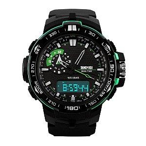 Relógio Masculino Skmei AnaDigi 1081 - Preto e Verde