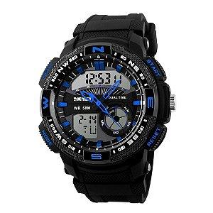 Relógio Masculino Skmei AnaDigi 1109 - Preto e Azul