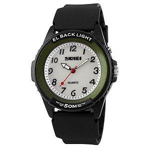 Relógio Masculino Skmei Analógico 0887 Preto e Verde-