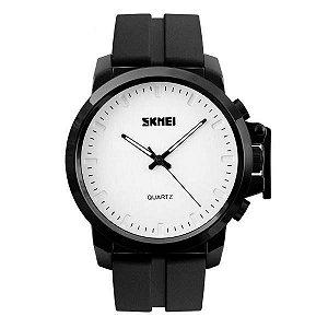 Relógio Masculino Skmei Analógico 1208 - Preto e Branco
