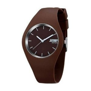 Relógio Masculino Skmei Analógico 9068 - Marrom e Branco