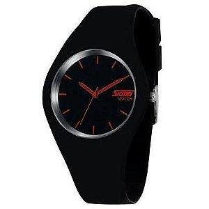 Relógio Masculino Skmei Analógico 9068 - Preto e Vermelho