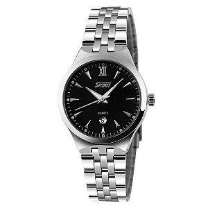 Relógio Masculino Skmei Analógico 9071 - Prata e Preto