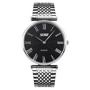 Relógio Masculino Skmei Analógico 9105 - Prata e Preto