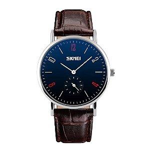 Relógio Masculino Skmei Analógico 9120 - Preto e Prata