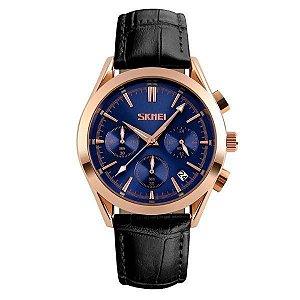 Relógio Masculino Skmei Analógico 9127 - Preto, Rosê e Azul