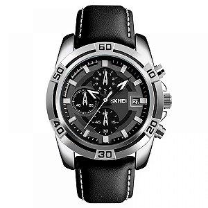 Relógio Masculino Skmei Analógico 9156 - Preto e Prata