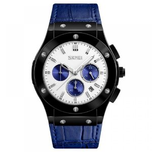 Relógio Masculino Skmei Analógico 9157 - Azul e Preto