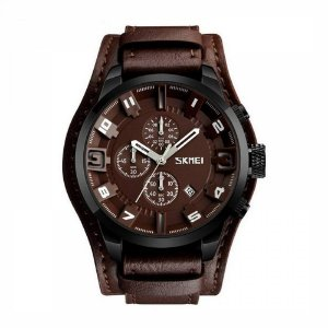 Relógio Masculino Skmei Analógico 9165 Marrom