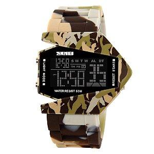 Relógio Masculino Skmei Digital 0817 - Marrom Camuflado
