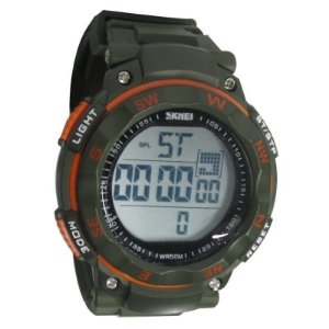 Relógio Masculino Skmei Digital 1024 Verde e Laranja-