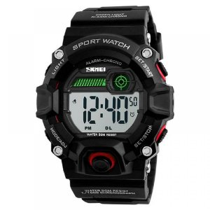 Relógio Masculino Skmei Digital 1242 - Preto e Vermelho