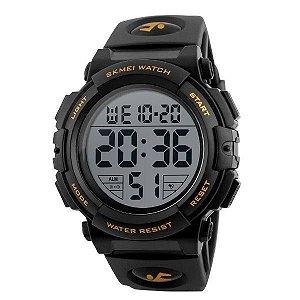 Relógio Masculino Skmei Digital 1258 - Preto e Dourado