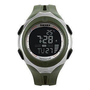 Relógio Masculino Skmei Digital Termômetro 1080 - Verde