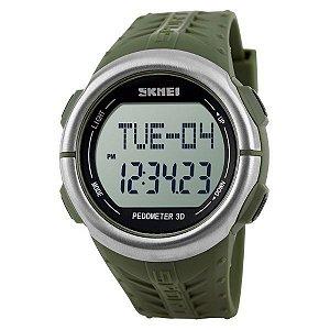 Relógio Pedômetro Masculino Skmei Digital 1058 Verde-