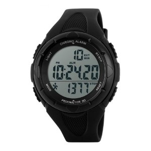 Relógio Pedômetro Masculino Skmei Digital 1108 - Preto
