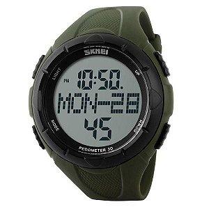 Relógio Pedômetro Masculino Skmei Digital 1122 - Verde e Preto