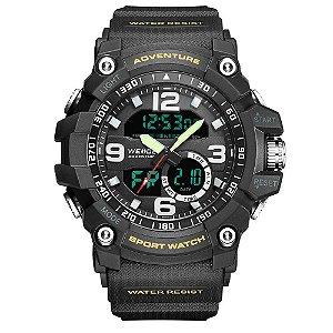 Relógio Masculino Weide AnaDigi WA3J8001 - Preto e Branco