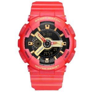 Relógio Masculino Weide AnaDigi WA3J8004 - Vermelho e Preto
