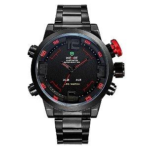 Relógio Masculino Weide AnaDigi WH-2309B - Vermelho