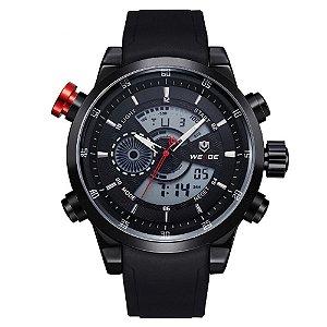 Relógio Masculino Weide AnaDigi WH-3401 - Preto