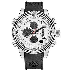 Relógio Masculino Weide AnaDigi WH-5209 - Preto e Branco