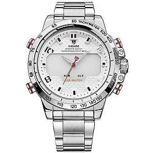 Relógio Masculino Weide AnaDigi WH-6102 - Prata e Branco