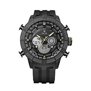 Relógio Masculino Weide AnaDigi WH-6308 - Preto e Amarelo