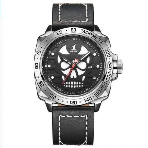 Relógio Masculino Weide Analógico UV-1510 - Preto, Prata e Branco