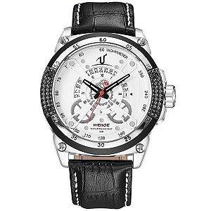 Relógio Masculino Weide Analógico UV-1605 - Preto, Prata e Branco