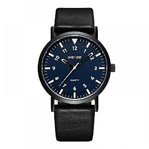 Relógio Masculino Weide Analógico WD003 - Preto, Azul e Branco
