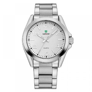 Relógio Masculino Weide Analógico WH-801G - Prata e Branco