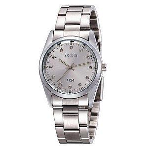 Relógio Masculino Skone Analógico 7124 Prata-