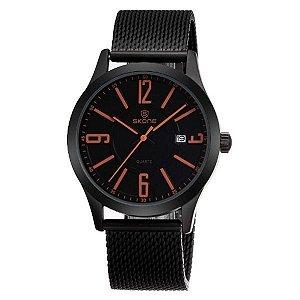 Relógio Masculino Skone Analógico 7347BG Laranja-