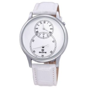 Relógio Masculino Skone Analógico 9275AG Branco-
